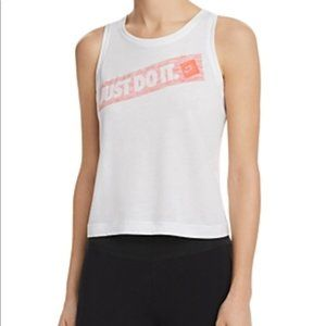 Women's Nike Just Do It cropped Tank size Large